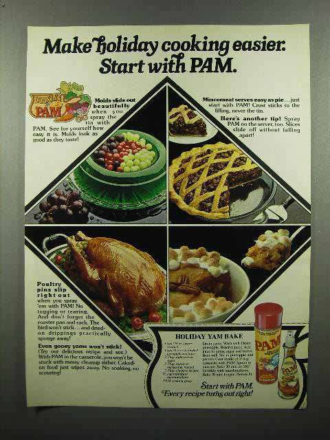 1980 Pam Cooking Spray Ad - Start With Pam