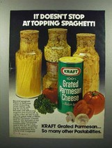 1980 Kraft Grated Parmesan Cheese Ad - Doesn't Stop - $14.99