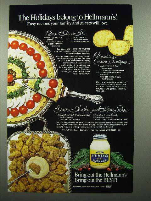 1980 Hellmann's Mayonnaise Ad - Holidays Belong