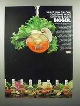 1980 Kraft Dressing Ad - Make Every Bite Taste Bigger - $14.99