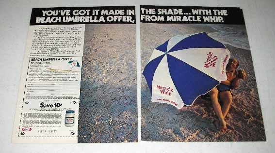 1980 Kraft Miracle Whip Ad - Got It Made in the Shade