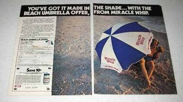 1980 Kraft Miracle Whip Ad - Got It Made in the Shade - $14.99