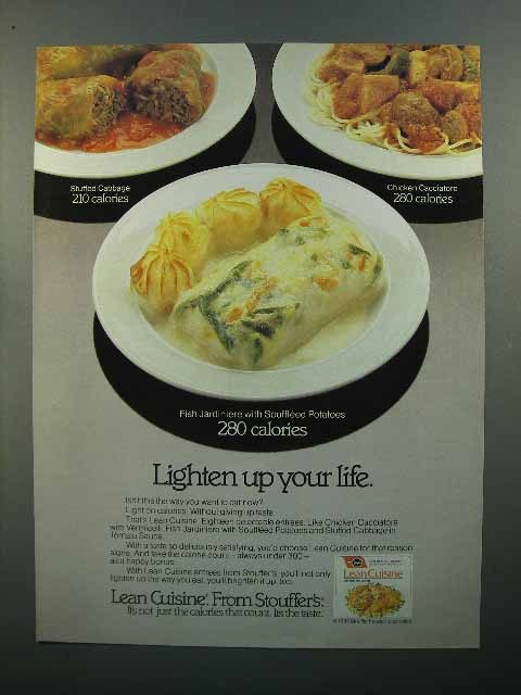 1985 Stouffer's Lean Cuisine Dinner Ad - Lighten Up
