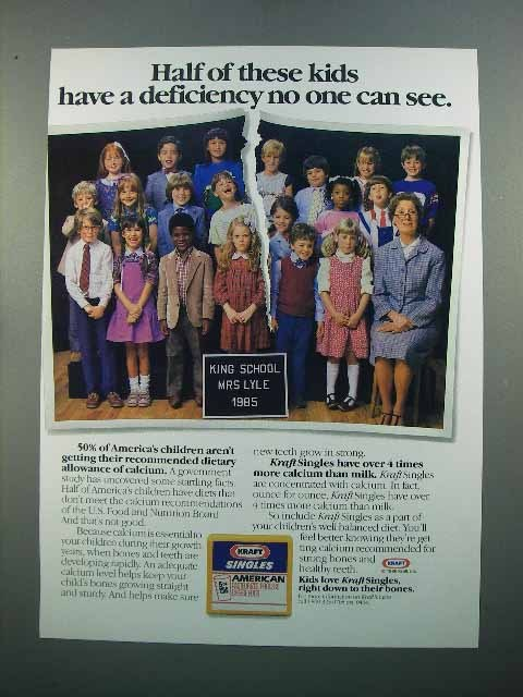 1986 Kraft Singles American Cheese Ad - Kids Deficiency