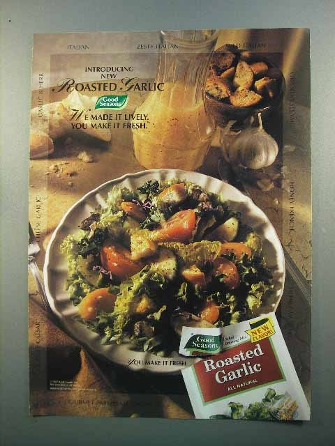 1997 Good Seasons Roasted Garlic Dressing Mix Ad
