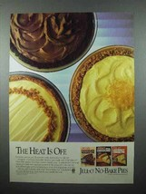 1986 Jell-O No-Bake Pies Mix Ad - Heat is Off - $14.99
