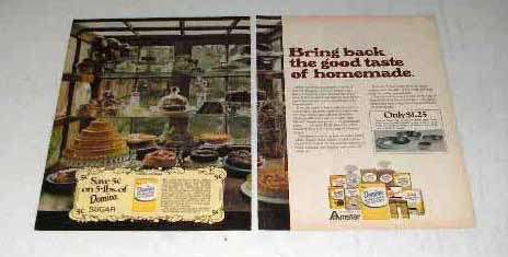 1972 Domino Sugar Ad - Good Taste of Homemade