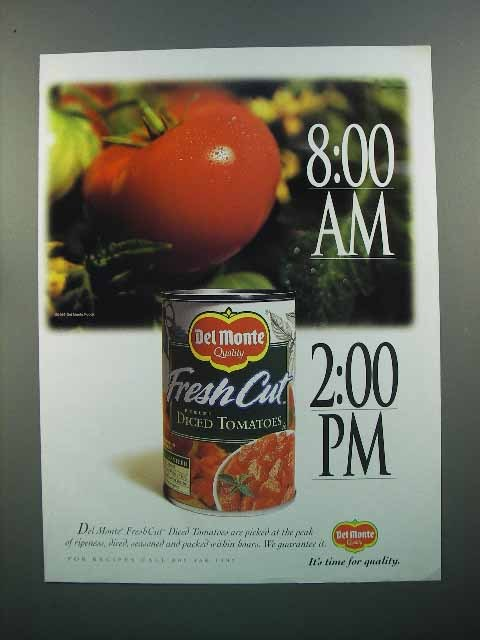 1997 Del Monte Fresh Cut Diced Tomatoes Ad