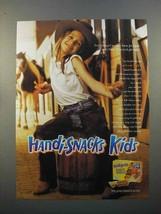 1998 Kraft Handi-Snacks Ad - Kids - Cowgirl - $14.99