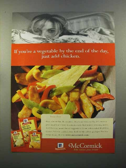 Primary image for 1999 McCormick Spices Ad - Just Add Chicken