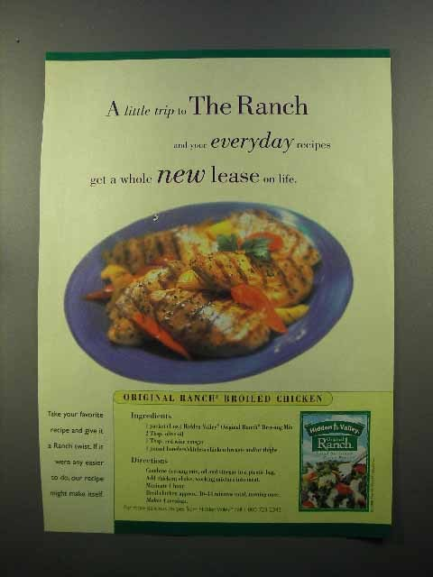 1999 Hidden Valley Ranch Dressing Mix Ad - Chicken