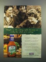 1999 Kraft Free Catalina Dressing Ad - We Like Eating - $14.99