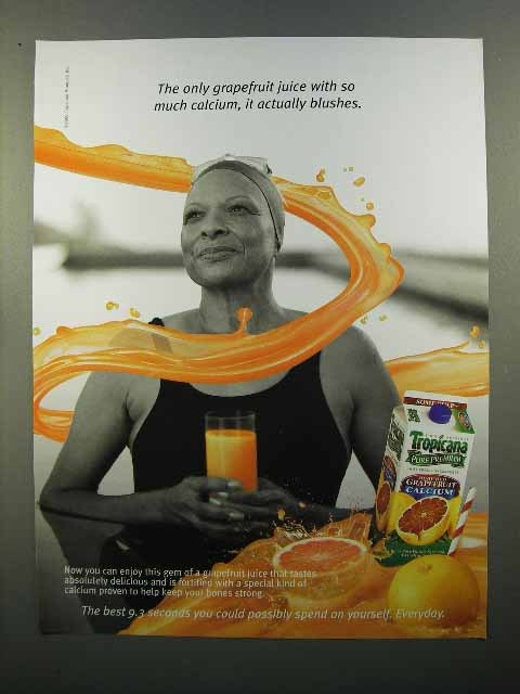 2000 Tropicana Grapefruit Juice Ad, It Actually Blushes