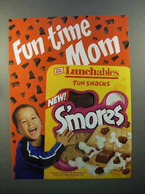 2001 Oscar Mayer Lunchables S'mores Ad - Fun Time Mom