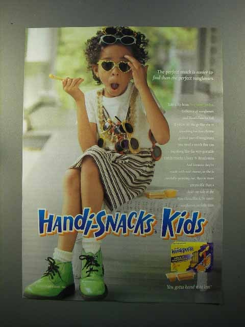2001 Kraft Handi-Snacks Ad - Easier than Sunglasses