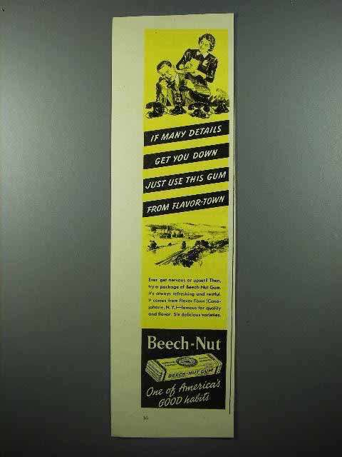 1939 Beech-Nut Gum Ad - From Flavor-Town