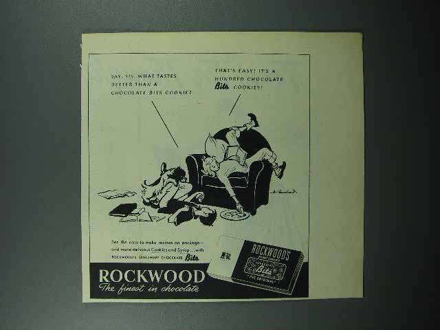 1946 Rockwood's Chocolate Bits Ad - What Tastes Better
