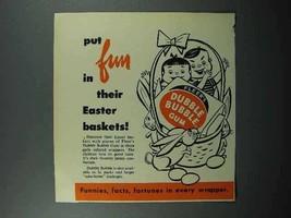 1953 Fleer Dubble Bubble Gum Ad - Easter Baskets - $14.99
