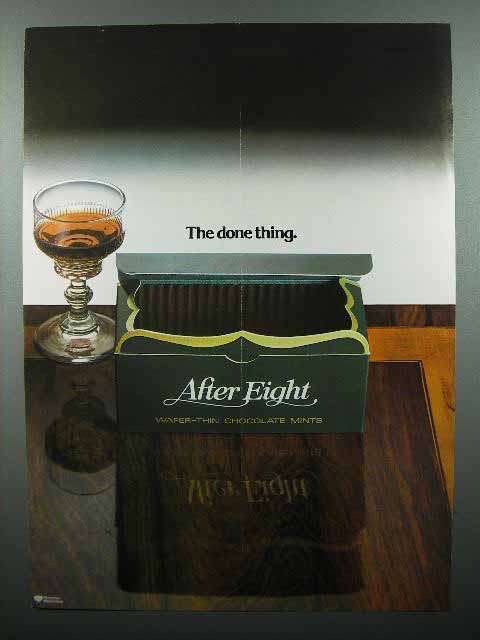 1978 After Eight Mints Ad - The Done Thing