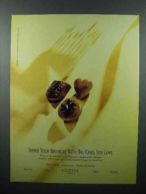 1998 Godiva Chocolate Ad - The Ones You Love
