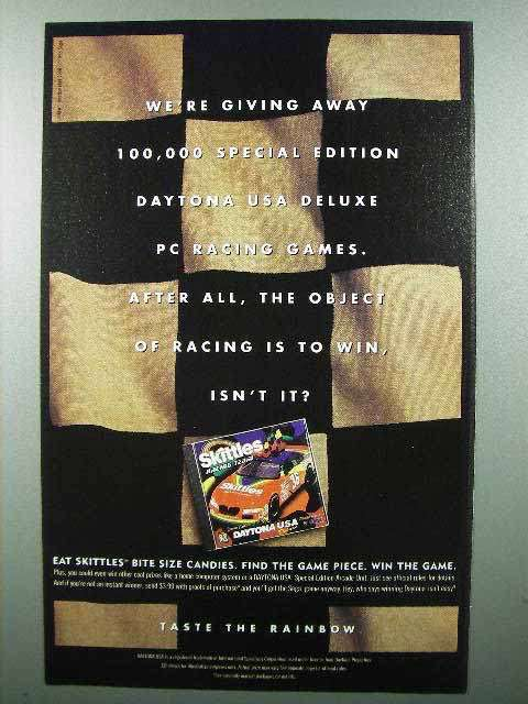 1998 Skittles Candy Ad - Daytona USA Racing Game