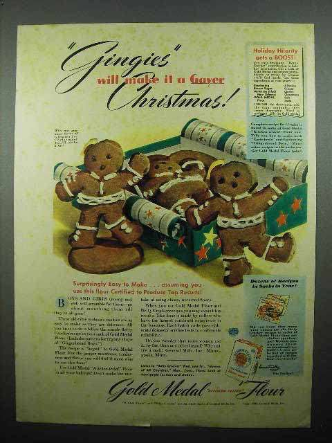 1940 Gold Medal Flour Ad - Gingies Make Gayer Christmas