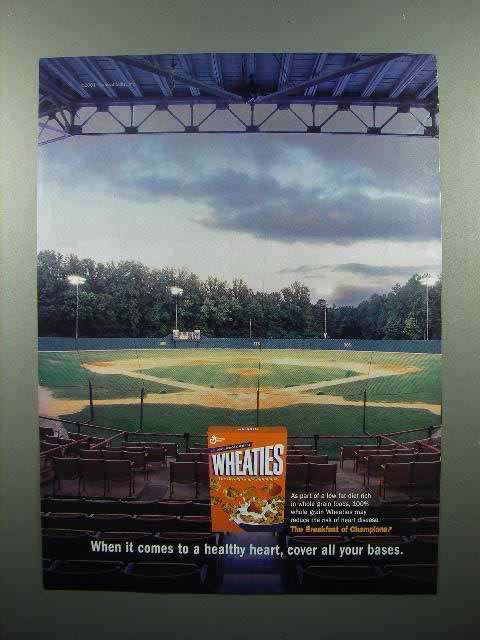 2001 General Mills Wheaties Cereal Ad - Cover All Bases