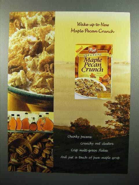 2003 Post Selects Maple Pecan Crunch Cereal Ad