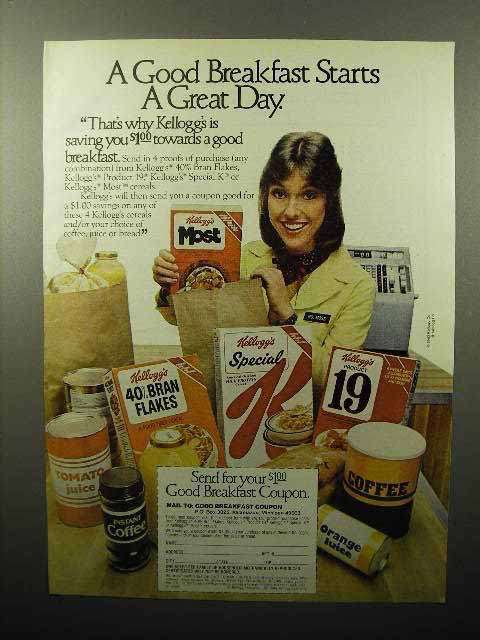 1980 Kellogg's Cereal Ad - Starts a Great Day
