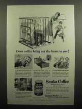 1951 Sanka Coffee Ad - Does Coffee Bring Out the Beast? - $14.99