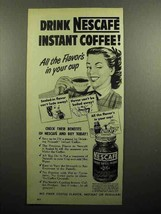 1951 Nescafe Instant Coffee Ad - Drink - $14.99