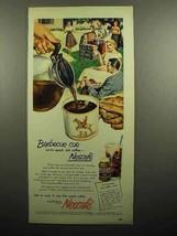 1951 Nescafe Coffee Ad - Barbecue Cue - $14.99