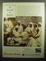 1957 Brooke Bond Tea Ad - Men Only In Morocco - $14.99