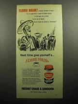 1957 Chase & Sanborn Instant Coffee Ad - Flavor Break - $14.99