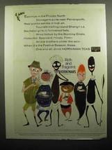 1959 Hornimans Tea Ad - Eskimos in the Frozen North - $14.99