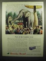 1959 Brooke Bond Tea Ad - Part of the London Scene - $14.99