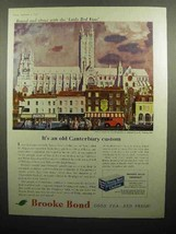 1959 Brooke Bond Tea Ad - An Old Canterbury Custom - $14.99