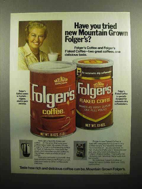 1978 Folger's Mountain Grown Coffee Ad - Have You Tried