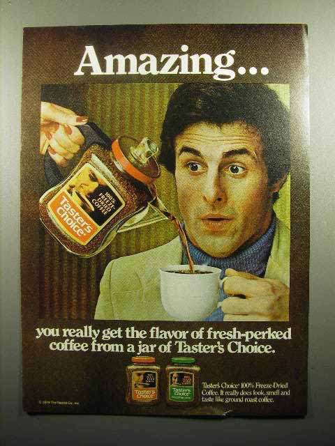 1979 Taster's Choice Coffee Ad - Amazing
