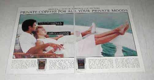 1986 Maxwell House Private Collection Coffee Ad