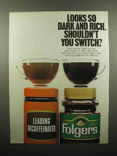 1988 Folgers Coffee Ad - Shouldn't You Switch?