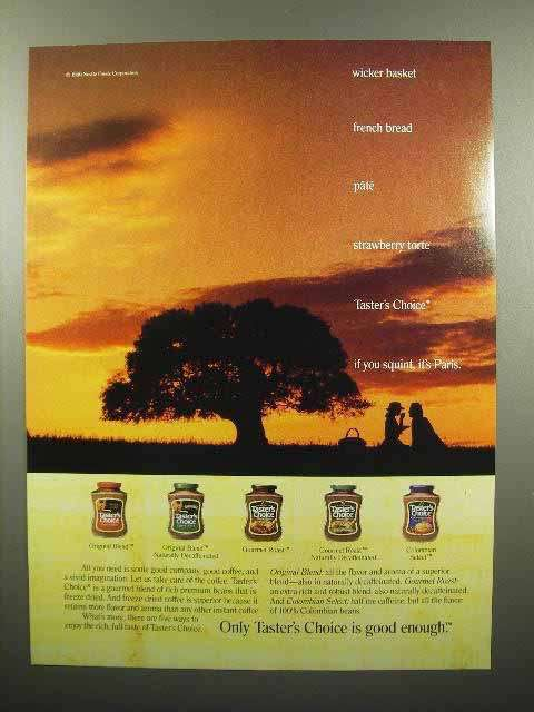 1990 Taster's Choice Coffee Ad - Is Good Enough