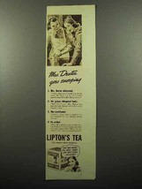 1938 Lipton's Tea Ad - Mrs. Dexter Goes Snooping - $14.99