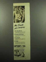 1939 Lipton's Tea Ad - Mrs. Dexter Goes Snooping - $14.99