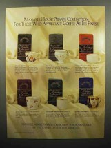 1988 Maxwell House Private Collection Coffee Ad - $14.99
