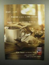 2000 Maxwell House Slow Roast Coffee Ad - Study a Cloud - $14.99