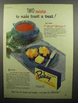 1948 Kraft Parkay Oleomargarine Ad - Make Toast - $14.99
