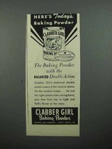 1945 Clabber Girl Baking Powder Ad - Here's Todays - $14.99