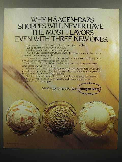 1980 Haagen-Dazs Ice Cream Ad - Never Have The Most