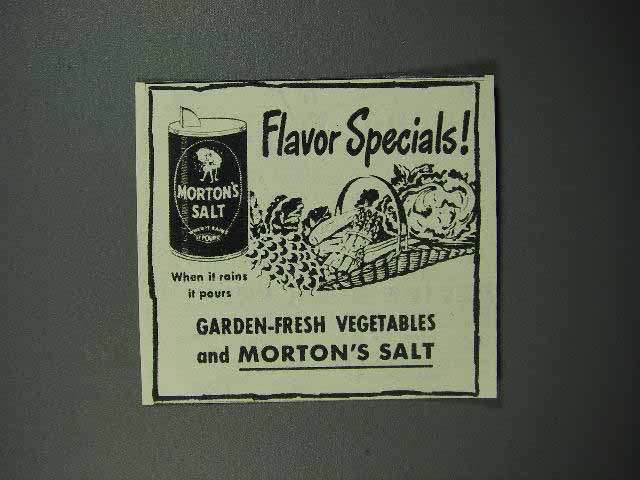 1945 Morton's Salt Ad - Flavor Specials